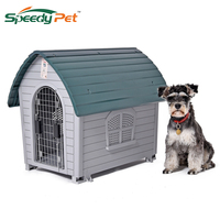 Domestic Delivery luxury Pet Dog House Pet Waterproof Plastic Dog Kennel Outdoor Winter House For Cat Pupp Dogs Outdoor Bed