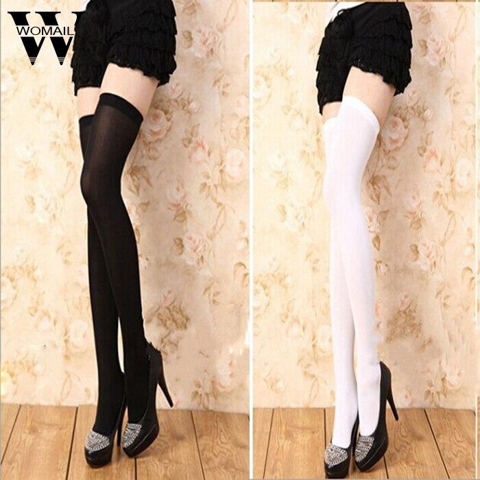 New Socks Fashion Stockings Casual Cotton Thigh High Over Knee Acrylic High Socks Girls Womens Female Long Knee Sock 2018