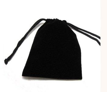 460 piezas bolsas de terciopelo negro Charpie & f lannel y bolsa de regalo y embalaje 100mm x 86mm