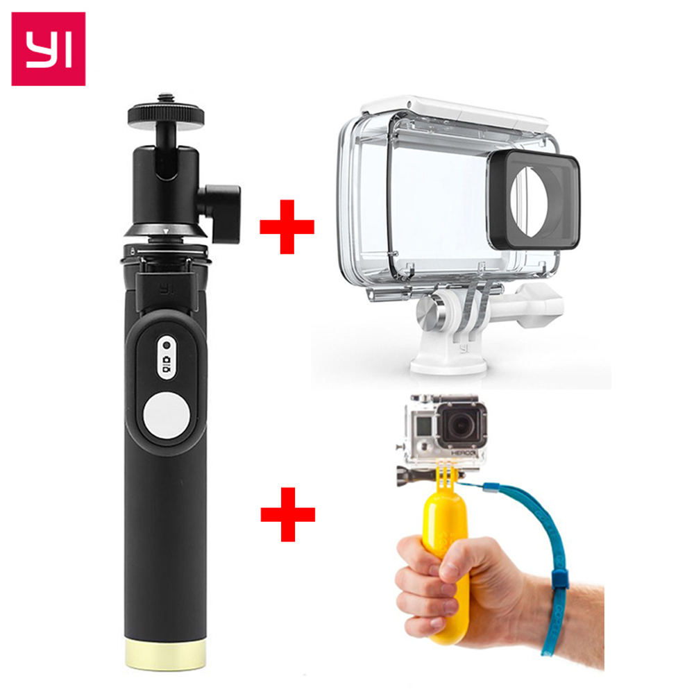 YI Original Accessories SelfieStick Bluetooth Remote Waterproof Case Floating For Xiaomi YI 4K Action Camera & YI Sports Camera original xiaomi yi action camera 2 waterproof case