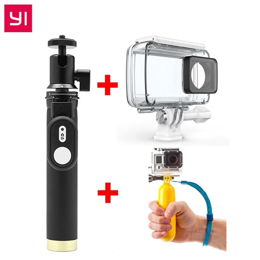 YI accesorios originales SelfieStick remoto Bluetooth a prueba de agua flotante para Xiaomi YI 4 K Cámara de Acción y YI deportes Cámara