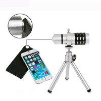Top One 12x Zoom Teleskop Obiektyw z Teleskopu aparatu Statyw do Telefonu Komórkowego dla Iphone 6 6 S 4.7 Cal Mar25