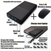 Vinsic Laptop Power Bank 30000mah Notebook Powerbank DC 19V 3 5A USB 2 4A Portable Charger
