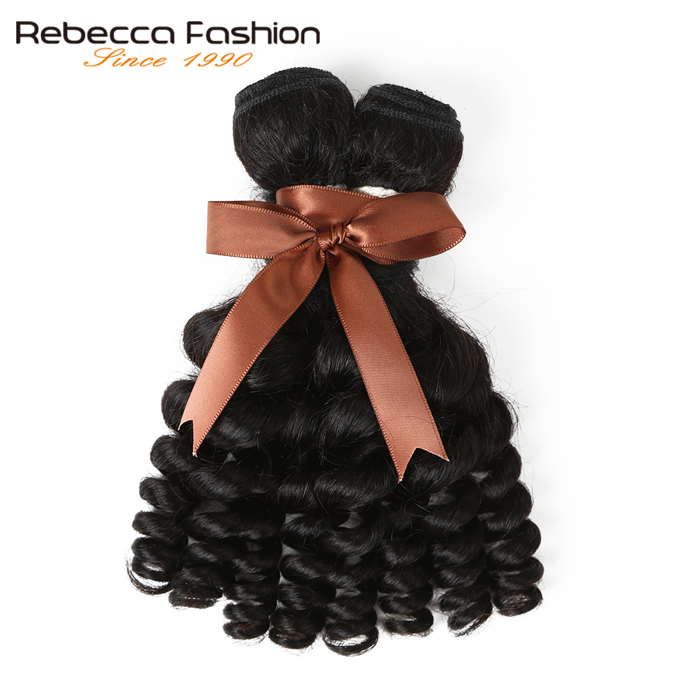 Rebecca Fumi Curly Hair 1 Bundle Deals Brazilian Non Remy Human Hair Extensions Natural Black Free Shipping