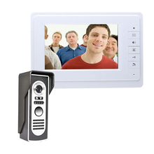 7 дюймов TFT Проводной видео-телефон двери внутренной связи Цвет видео система внутренней связи с домофоном белый монитор на открытом воздухе дома домофоны с дверным звонком