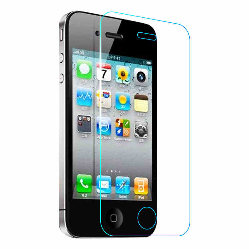 Premium Tempered Glass for iPhone 4 4s 0.3mm 9H 2.5D Transparent Explosion proof Screen Protector 100pcslot