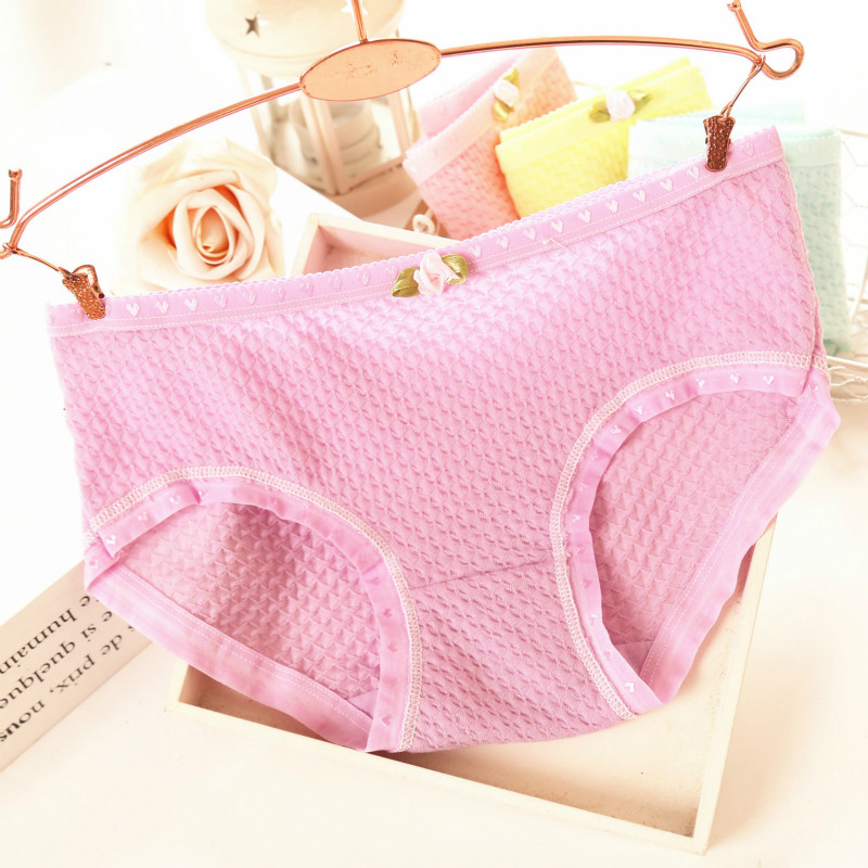 2017 New Hot breathable girl panties candy color girls shorts briefs bubble cotton underwear bow low waist women's briefs hs03