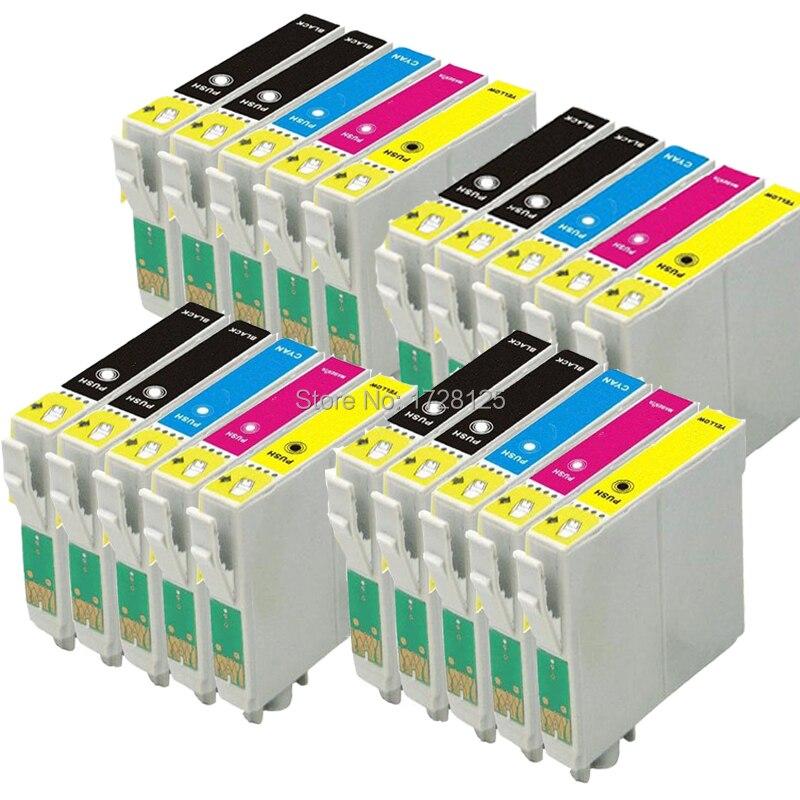 20 imprimante T1295 cartouches D'encre pour Stylet SX235W SX425W SX445W SX525WD SX535WD SX438W SX420W SX440W BX305F BX305FW BX305Plus