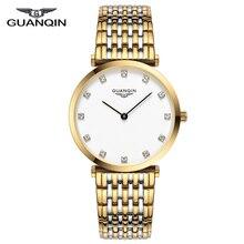 GUANQIN 2018 שעון נשים קוורץ שעון גברת ילדה פשוט עמיד למים Montre Femme עסקי פלדה למעלה מותג יוניסקס Relogio Feminino