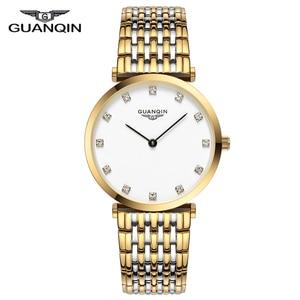 Image 1 - GUANQIN 2018 นาฬิกาผู้หญิงนาฬิกาควอตซ์ผู้หญิงผู้หญิงกันน้ำ Montre Femme ธุรกิจเหล็ก top ยี่ห้อ Unisex Relogio Feminino