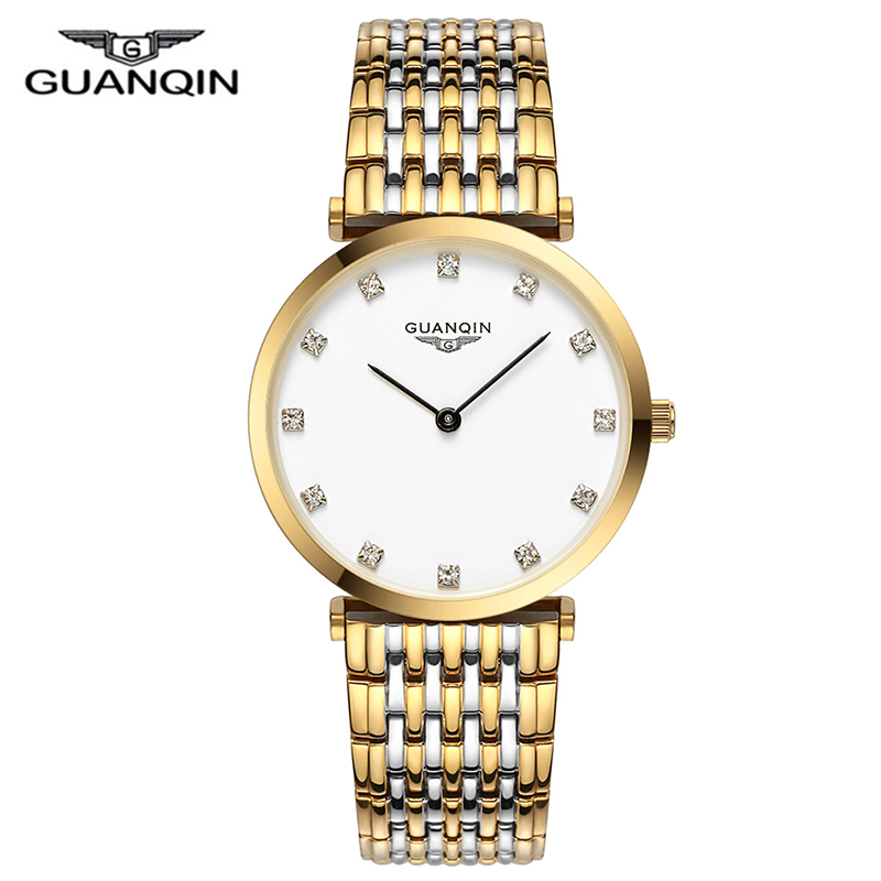 Image 1 - GUANQIN 2018 Watch Women Quartz Watch lady girl simple waterproof Montre Femme business steel top brand Unisex Relogio FemininoWomens Watches   -