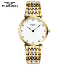 GUANQIN 2018 Watch Women Quartz Watch lady girl simple waterproof Montre Femme business steel top brand Unisex Relogio Feminino