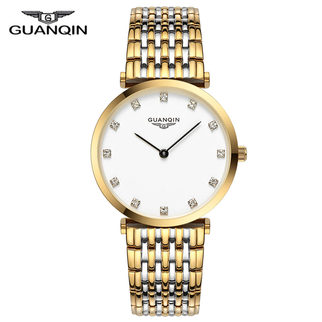GUANQIN 2018 Watch Women Quartz Watch lady girl simple waterproof Montre Femme business steel top brand Unisex Relogio Feminino