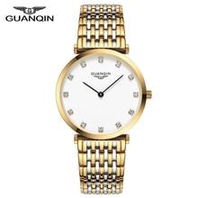 Guanqin 2018 relógio feminino relógio de quartzo senhora menina simples à prova dsimple água montre femme negócios aço marca superior unisex relogio feminino