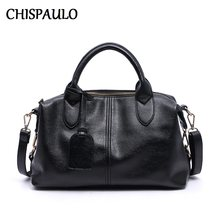 Luxury Brand Woman Bag 2019 COW Handbags Genuine Leather Bags For Women Messenger Female Shoulder Casual Ladies Leather Bag X63(China)