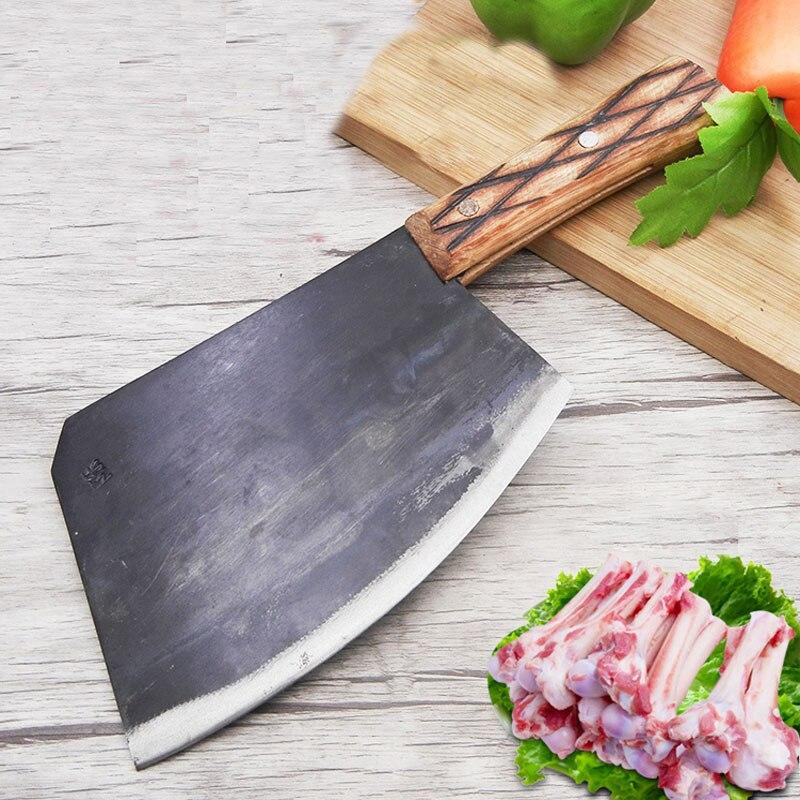새로운 탄소강 단조 전문 요리사 뼈 칼 절단 큰 뼈 장작 칼 부엌 절단 도끼 정육점 칼-에서주방 칼부터 홈 & 가든 의  그룹 1