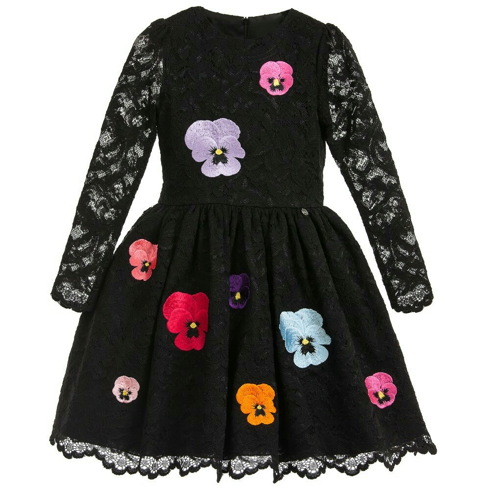 Kids Dresses For Girls Clothes Lace Flower Princess Dress Long Sleeve Girls Wedding Dress Autumn Girls Clothes 4 6 8 10 12 Years