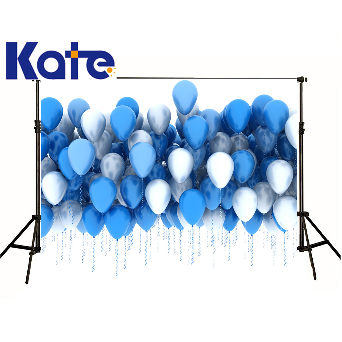 Kate Photographic Background Air Balloon Blue Celebration Birthday Photocall Digital Washable Backdrops Baby Background 5x7ft art ceramic
