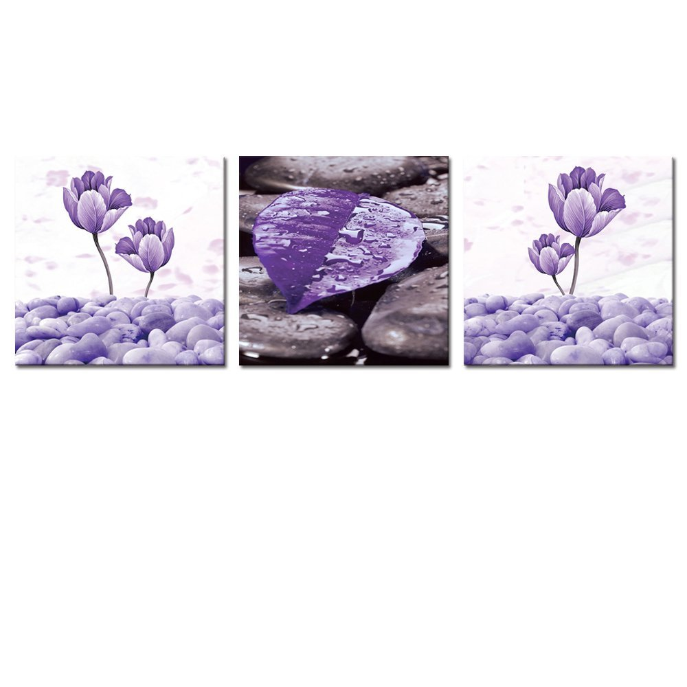 5 Panel New Modern Purple Flower Painting Picture Cuadros Decoracion Canvas Art Wall Decor For Living Room No Frame
