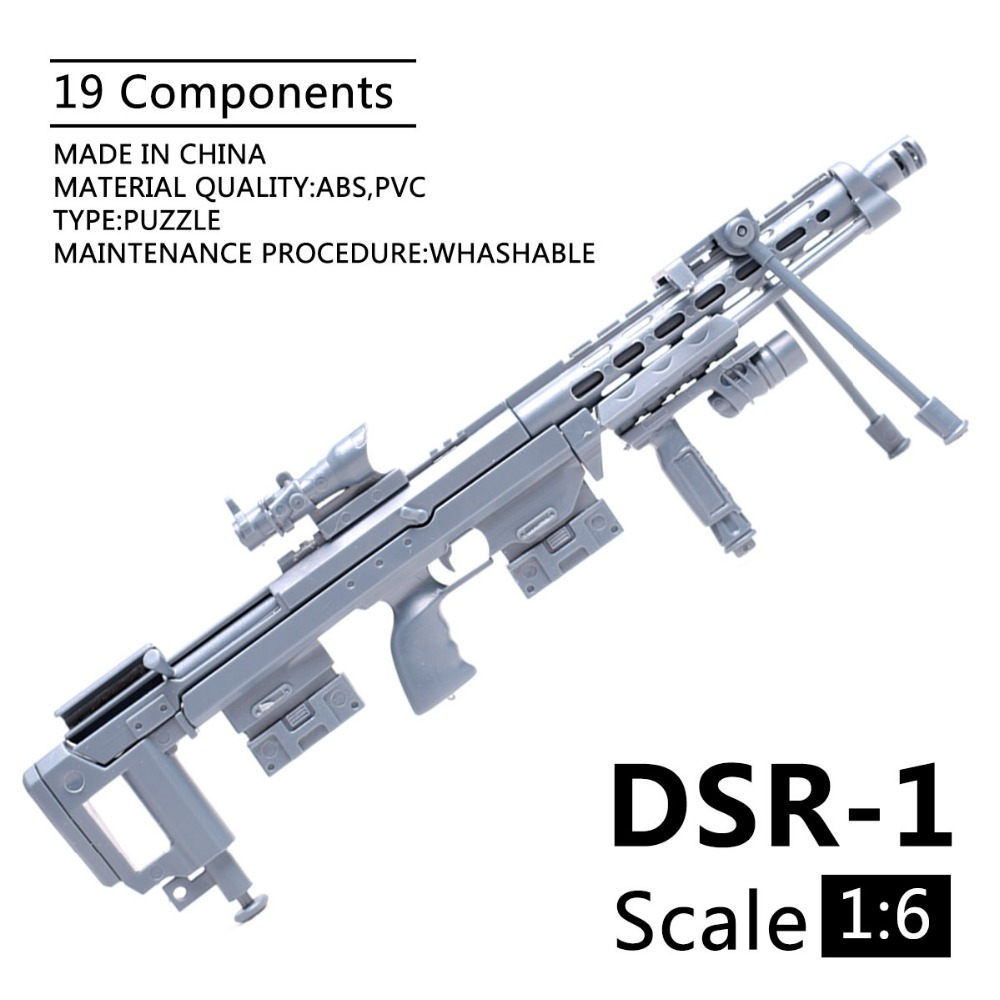 1:6 1/6 Scale 12 Inch Action Figures DSR-1 Siper Rifle Military Model Guns Of Soldier Component 1/100 MG Bandai Gundam DIY Gift