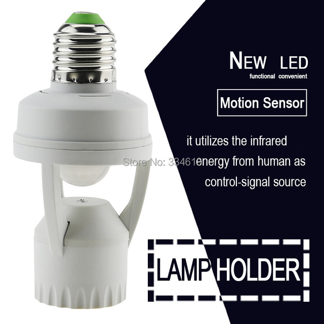 Superior Motion Sensor Infrared Switch Lamp Socket, Automatic E27 Light Lamp Holder,  Smart Home Light