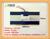 The Tablet Battery 3 7V 6000mAH 3270200 Polymer Lithium Ion Li Ion Battery For Tablet Pc