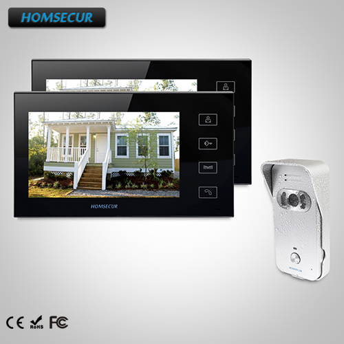 HOMSECUR 7 Video Door Entry Security Intercom+Intra-monitor Audio Intercom : TC021-S Camera +TM704-B Monitor
