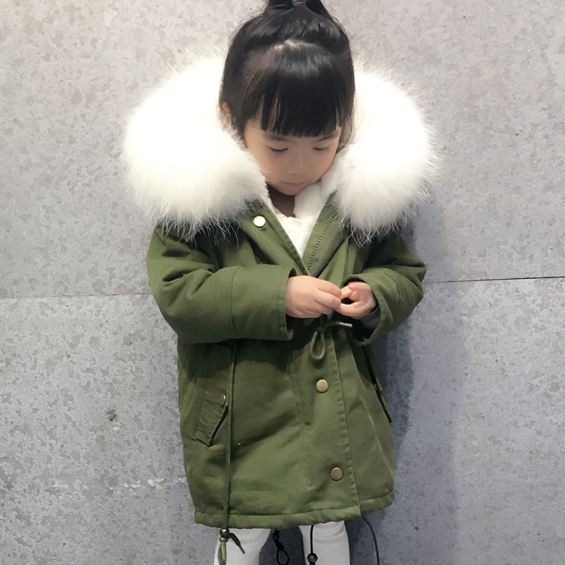 winter children outerwear&coats rex rabbit mink fur lining warm boys girls parkas unisex raccoon fur collar kids jacket winter fashion kids girls raccoon fur coat baby fur coats