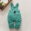 Baby Boy Girls Overalls Harem Pants Cartoon Print Bib Pants Casual Long Trousers