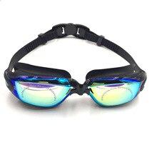Diving Water Glasses Swimming Glasses Integrated Earplugs Plating Anti-fog Electroplating UV Waterproof Eyewear