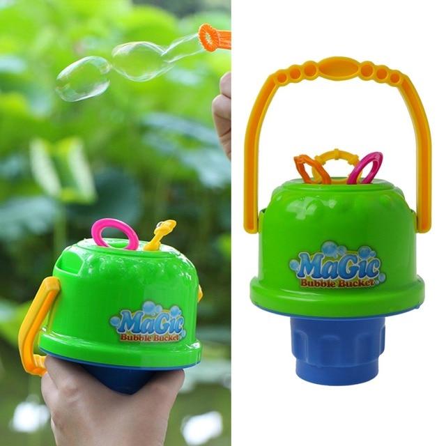 Children Bubbles Outdoor Toys Water Blowing Toys Magic Bubble Bucket Soap Bubble Blower Kids Bubbles Gift