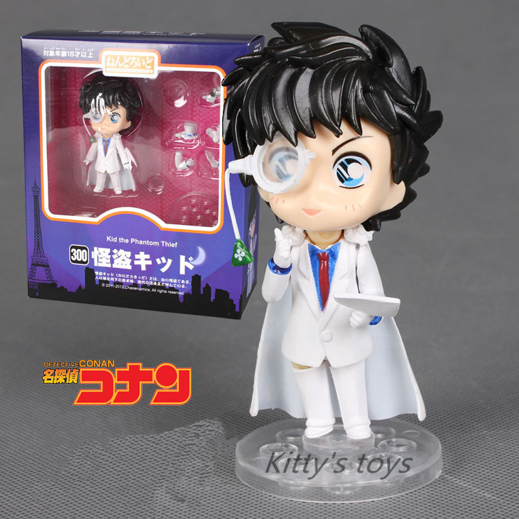 "Free Shipping Cute Nendoroid 4"" Detective Conan Kaito Kid the Phantom Thief PVC Action Figure Collection Model Toy #300 KA0372"