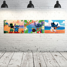 Movie Lilo Stitch Wallpaper Wall Art Canvas Posters Prints Painting Wall Pictures For Bedroom Nursery Modern Home Decor Artwork beauty beast movie wallpaper wall art canvas posters prints oil painting wall pictures for bedroom modern home decor accessories