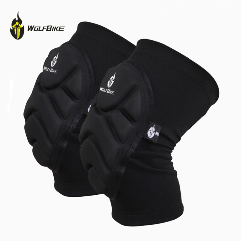 WOLFBIKE Two Pieces Skiing Goalkeeper Soccer Football Volleyball Extreme Sports Knee <font><b>Pads</b></font> Cycling Knee <font><b>Pads</b></font> Protector Kneepad