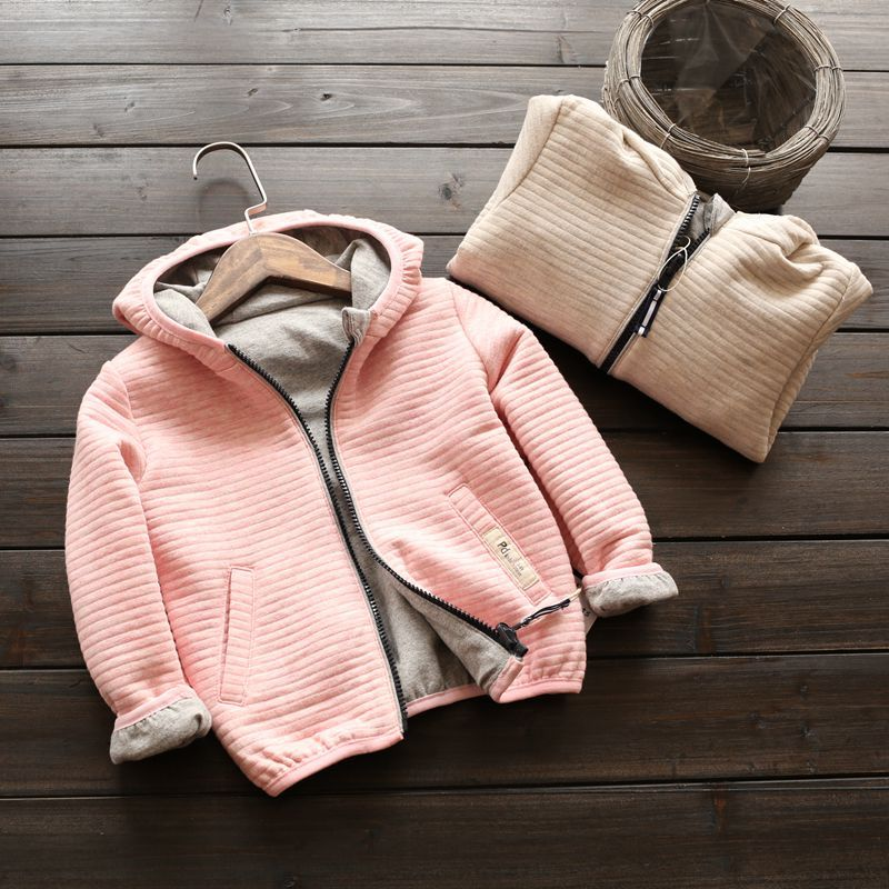 ФОТО 2017 new autumn & winter jacket air cotton unisex kids jacket long sleeve casual boys girls coats and jacket both side clothes