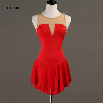 Customized Figure Skating Dress Latin Dance Dress Women Latina Salsa Standard Dance Dresses Dance Leotard D0583 Red