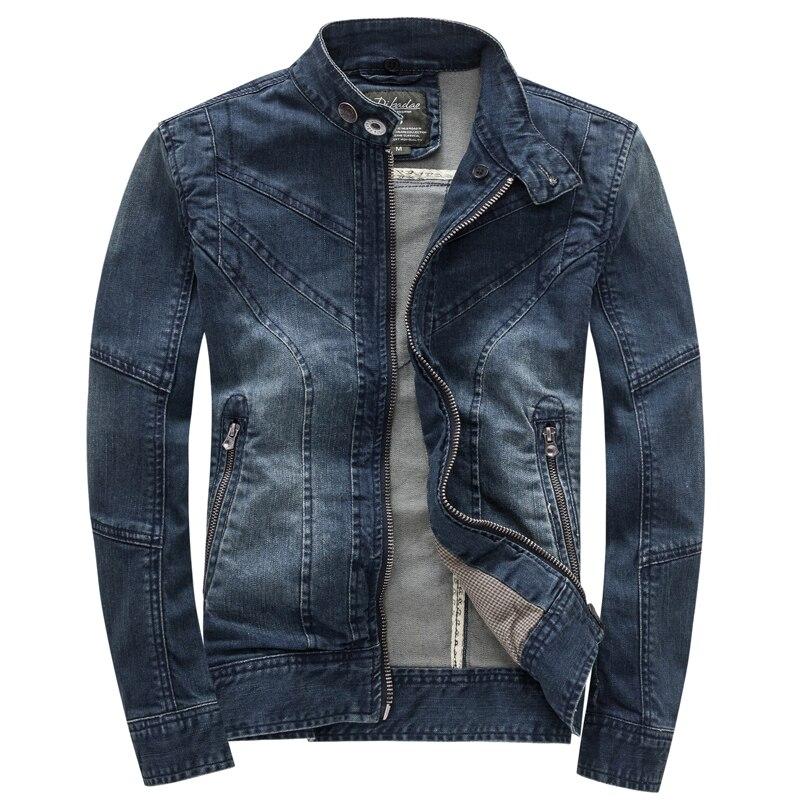Outono Com Capuz Jaqueta Jeans Dos Homens Denim Moda Jaqueta de Algodão Ocasional Magro Retro Do Vintage Homem Roupas de Marca - 2