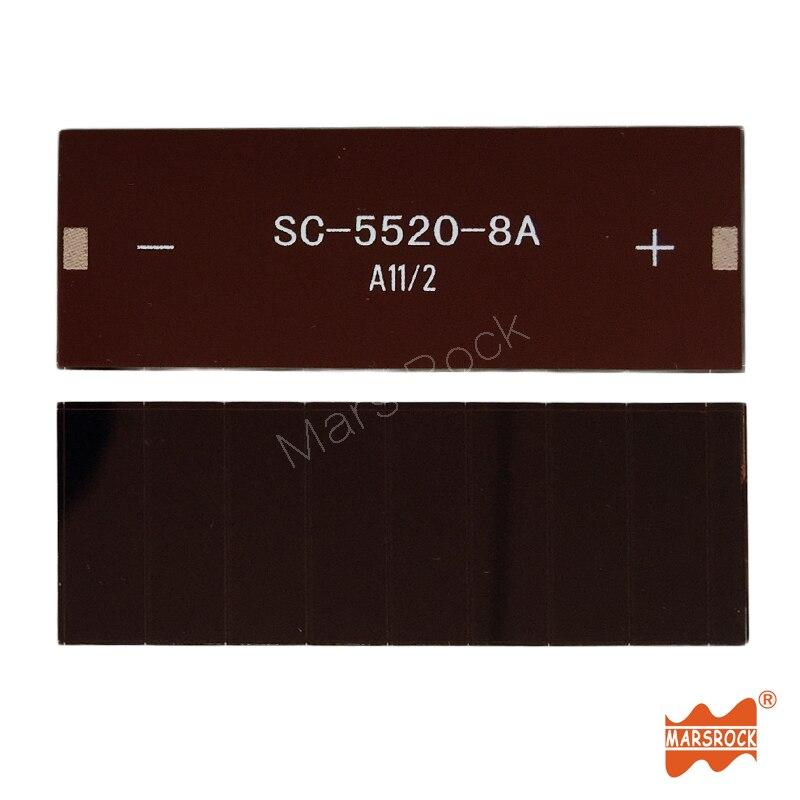 55x20mm 4 v 12ua dim luz vidro ito de celulas solares de silicio amorfo de pelicula