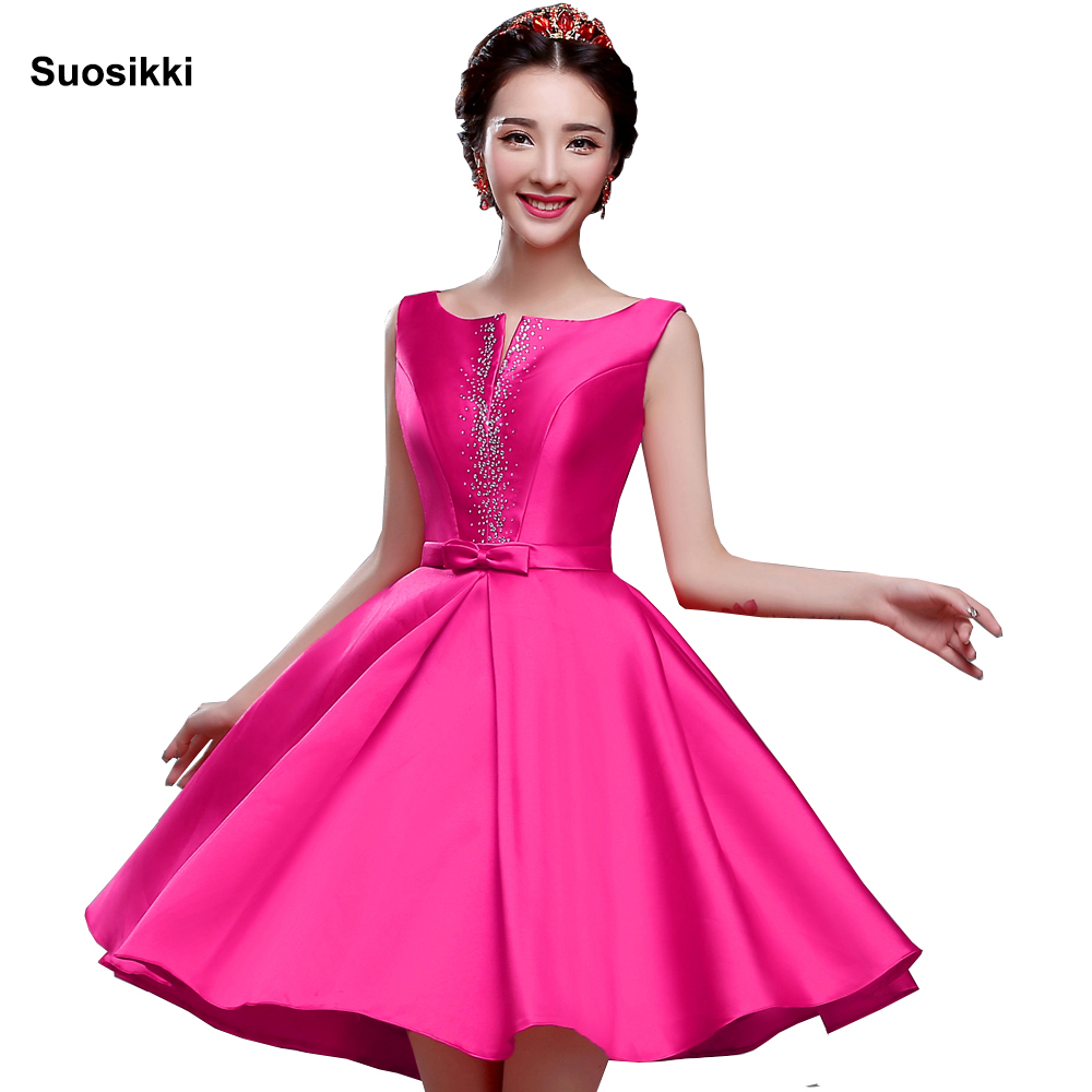 Pink Bling Cocktail Dresses Sequins Stain Mini Party Short Dress V-neck Above Knee Lace Up 2019 New