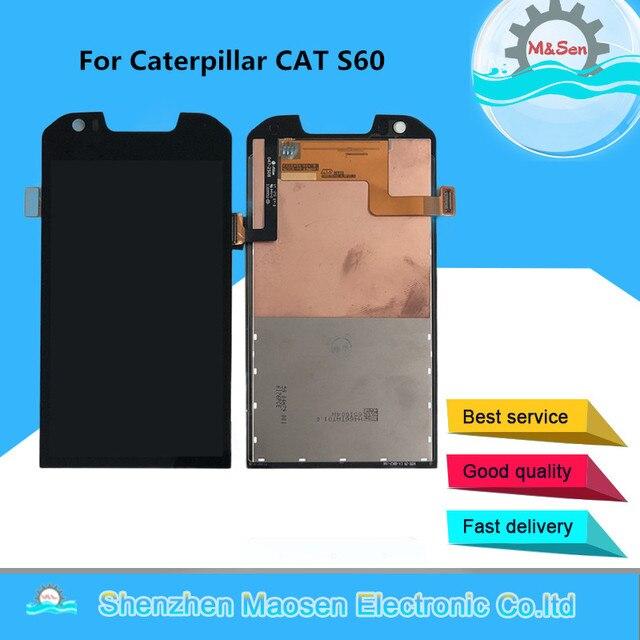 """4.7 """"המקורי M & סן עבור קטרפילר חתול S60 LCD מסך תצוגה עבור קטרפילר חתול S60 מגע זכוכית פנל digitizer מסך"""