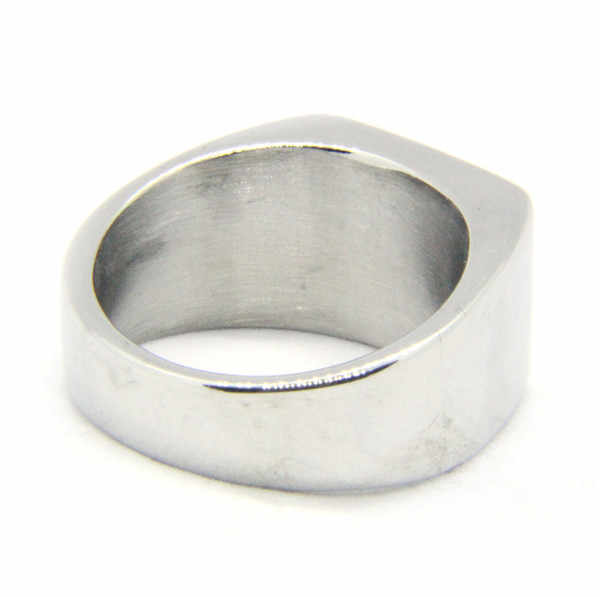 สไตล์เรียบง่ายแหวน 316L สแตนเลสบุรุษสตรีแหวนแฟชั่น Cool ขัดแหวน