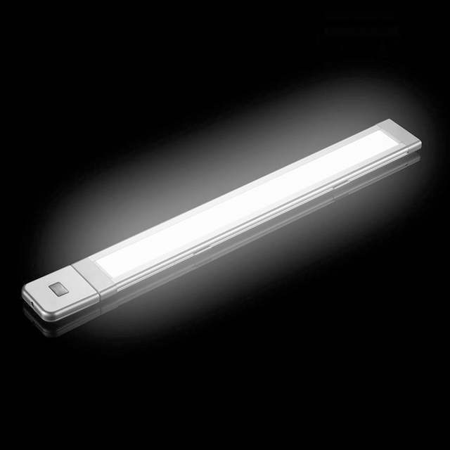 30 cm 45 cm 60 cm corpo ir motion sensor led strip bar luz conjunto De Alumínio SMD Rígida LEVOU Gabinete DC12V Noite Lâmpada para Cozinha quarto