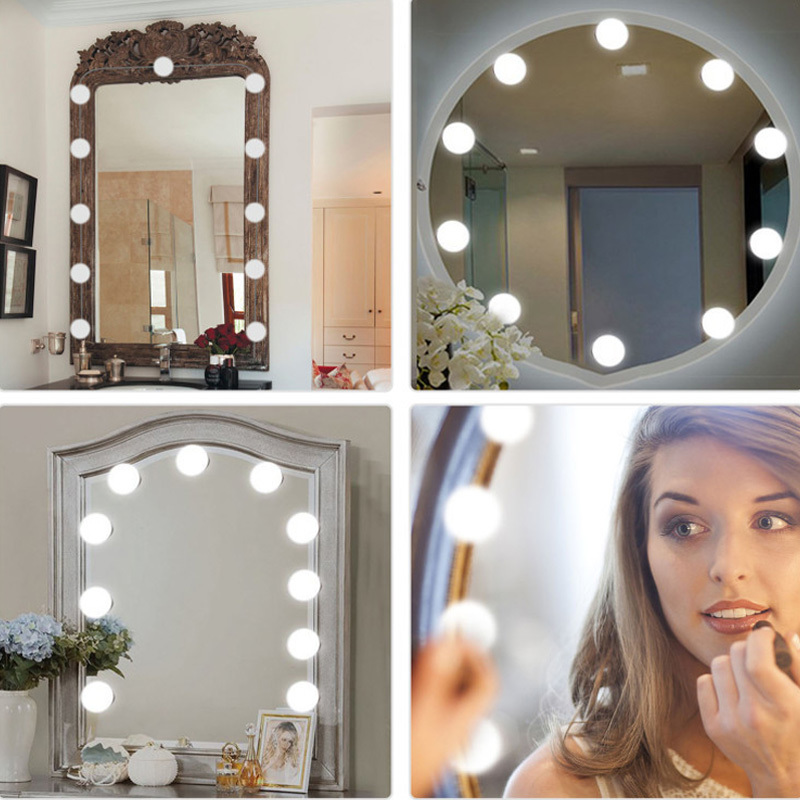 USB LED Vanity light Bulbs Dimmable Comestic Touch Switch LED Makeup Mirror light String For Dressing Desk Table Decoration lamp