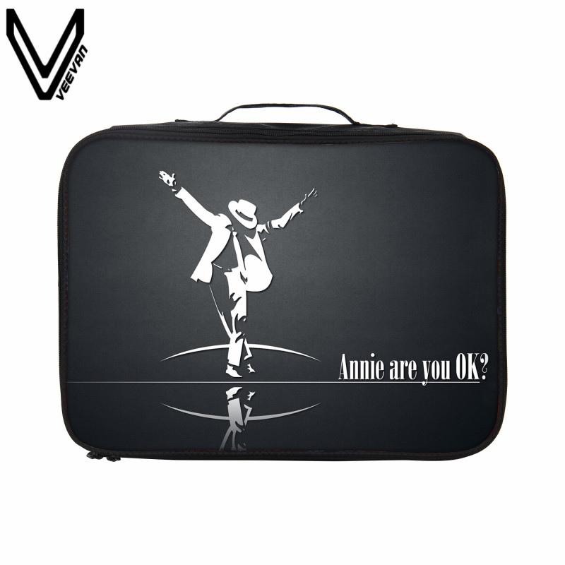 VEEVANV Michael Jackson Style Printing Travel Bags Portable Waterproof Large Capacity Travel Totes For Women Men Suitcases Bags