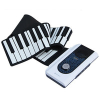 88 Key Hand Roll Up Electronic Keyboard Piano Flexible Piano With MIDI Keyboard Case Cover For