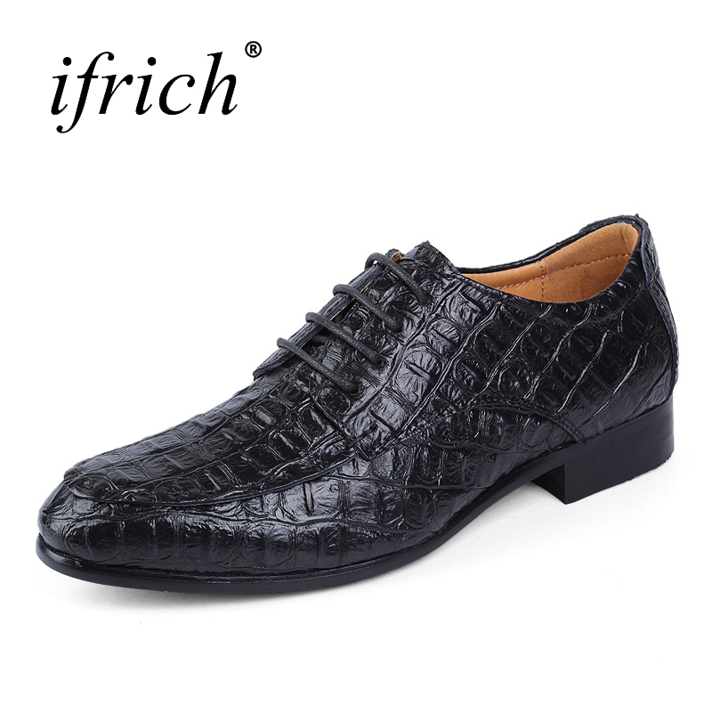 Ifrich Hot Sale Oxford Shoes for Men Comfortable Formal Shoes Genuine Leather Dress Footwear Plus Size 38-50 Wedding Shoes Men 2017 vintage retro custom men flat hot sale real mens oxford shoes dress wedding party genuine leather shoes original design