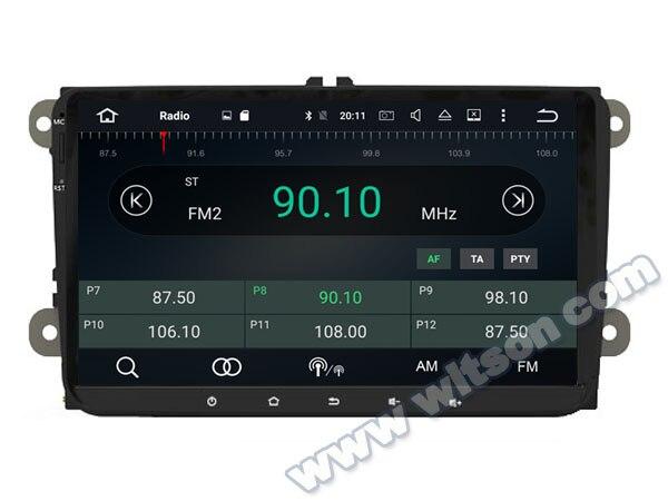9 android 8 0 os car multimedia gps radio for volkswagen. Black Bedroom Furniture Sets. Home Design Ideas