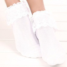 Hot Sale 7 Colors Fashion Cute Lace Socks