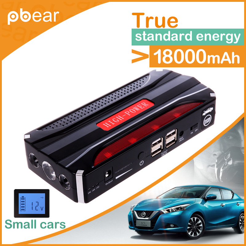 NEW 18000mah Car Jump Starter Mini Portable Emergency Charger for Petrol & Diesel Car Mobile Power Supply with 4 USB Port high capacity car jump starter mini portable emergency battery charger for petrol