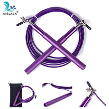 Speed Jump Rope Ball Bearing Metal Handle Sport Skipping Stainless Steel Cable Crossfit Fitness Equipment rope skipping